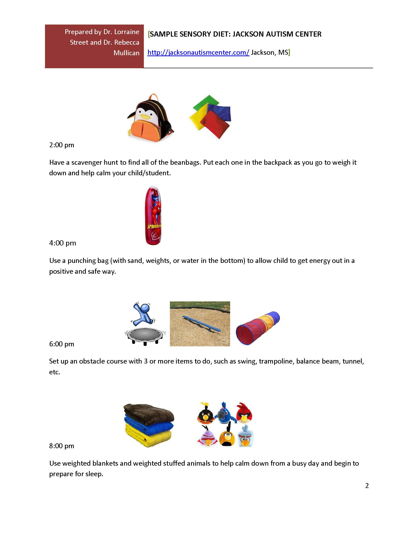 Sensory Diets At School And Home